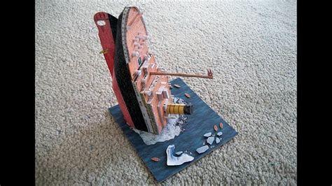 How To Make A Titanic Model Out Of Paper - paper model of the rms titanic sinking