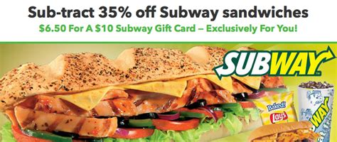 Subway Corporate Gift Cards - hot get a 10 subway gift card for just 6 50 moms need to know