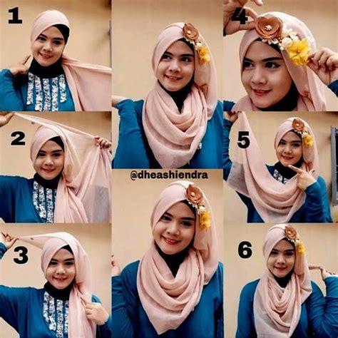 tutorial gambar hijab pesta 95 melhores imagens de gaun no pinterest estilos de