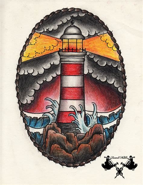 new school lighthouse tattoo tattoo flash lighthouse 03 by tausend nadeln on deviantart