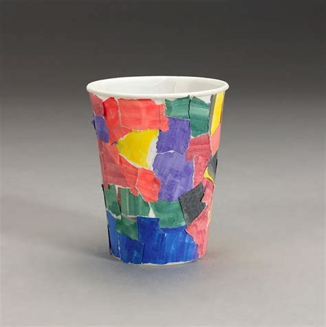 craft using paper cups magical mosaic cup craft crayola