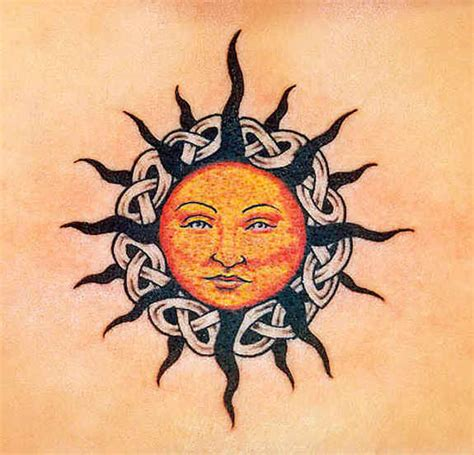celtic sun tattoo designs 43 sun tattoos designs