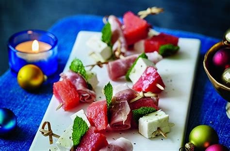 easy canape recipes uk 50 and easy canapes watermelon cured ham and feta