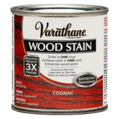 Varathane Wood Finish Interior by Varathane 1 2 Pt 3x Cognac Premium Interior Wood Stain