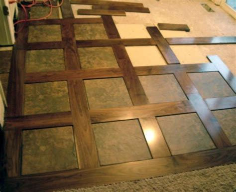 Tile and Wood Basket Weave. This would be cool for an