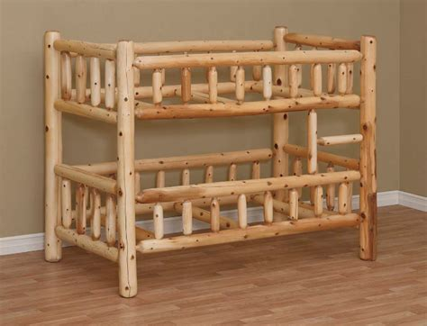 log bunk bed white cedar log furniture white cedar chests beds and tables