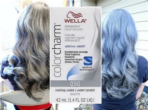 cooling violet toner wella on gray hair wella 050 cooling violet toner silver hair doovi