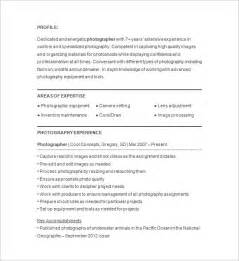 photographer resume template 17 free sles exles