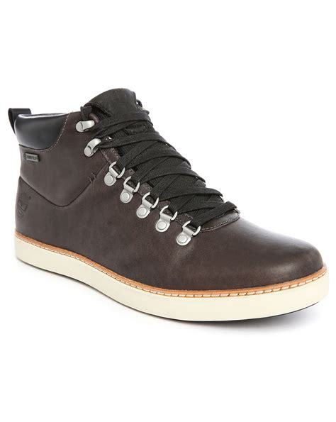 Timberland Boots High Grey 02 timberland hudston grey leather boots in gray for lyst