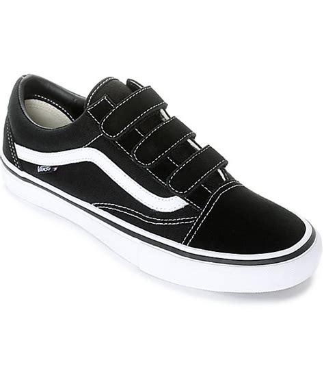 Vans School Pro vans skool prison pro black white skate shoes zumiez