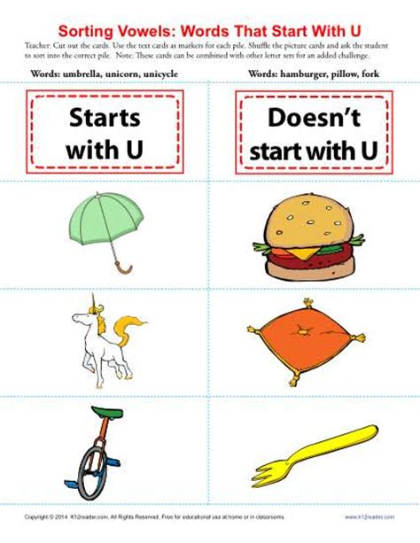 color that starts with u words starting with u beginning vowel worksheets