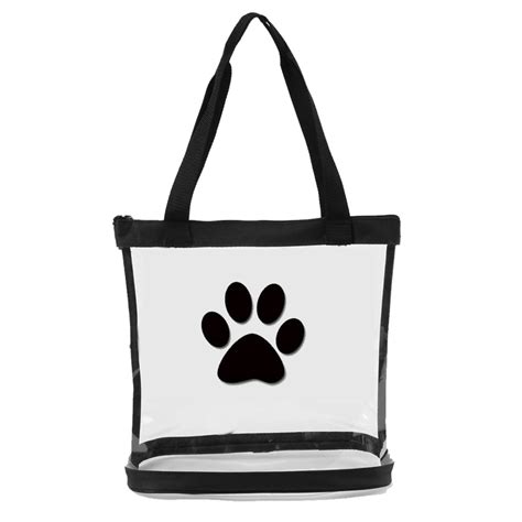 transparent bag clear tote with paw print