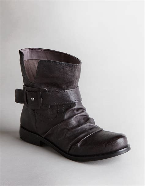 nine west ankle boots in gray grey leather lyst
