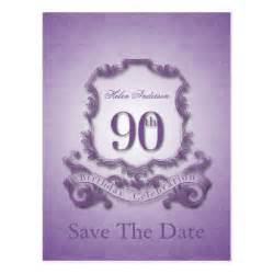 save the date birthday cards save the date 90th birthday personalized postcard zazzle