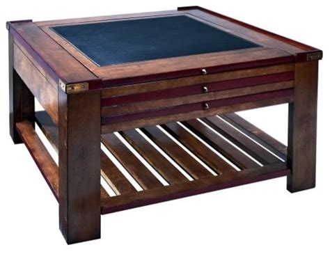authentic models game table coffee table red traditional