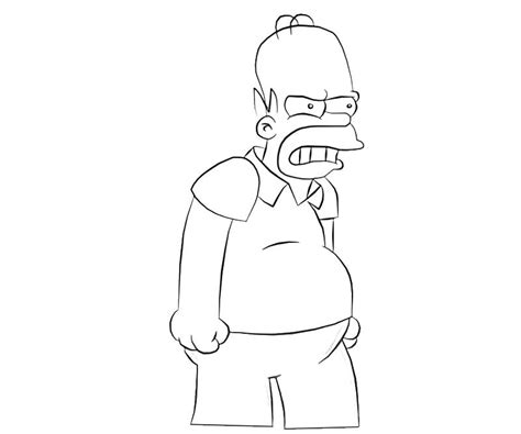 Homer Simpson Eat Avondale Style Homer Coloring Pages