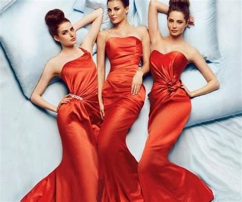 "Striking ""burnt orange"" bridesmaids dresses   Articles   Easy Weddings"