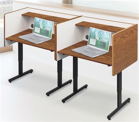 Desk Carrels by Height Adjustable Study Carrel