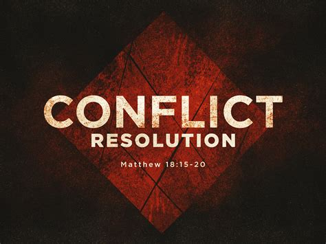 commonunity week  conflict resolution grace church