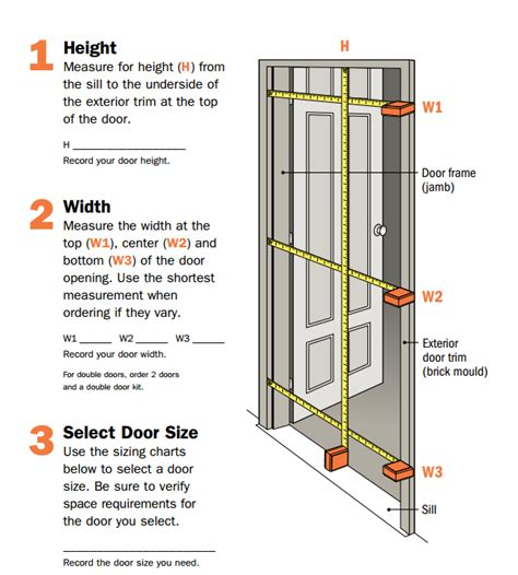 how to measure exterior door measuring doors start your building project right