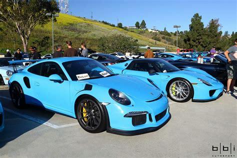 porsche riviera blue riviera blue porsche 918 spyder and 911 gt3 rs