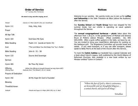 church order of service template best photos of order of service template funeral