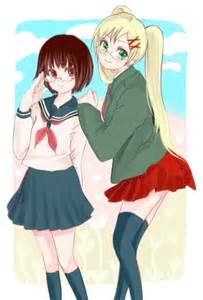 Hetalia shojo ai fem japan and fem england