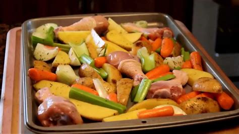 how to cook roasted chicken legs and vegetables youtube