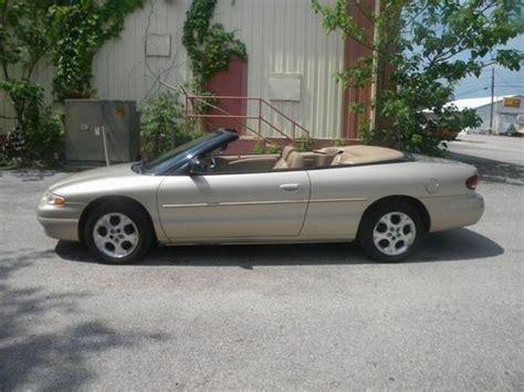 2000 Chrysler Sebring Convertible For Sale by Purchase Used 2000 Chrysler Sebring Jxi Convertible 2 Door