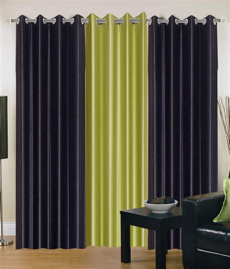 black and green curtains shoping edge black green polyester door curtain eyelet