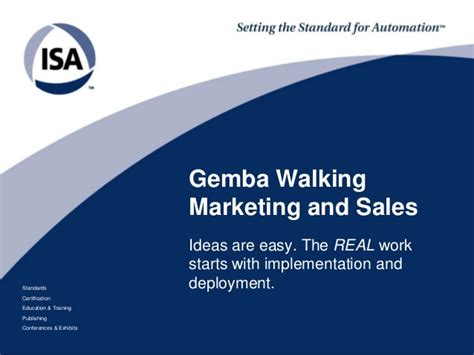 Mba Sales And Marketing Course by Gemba Walking Marketing And Sales