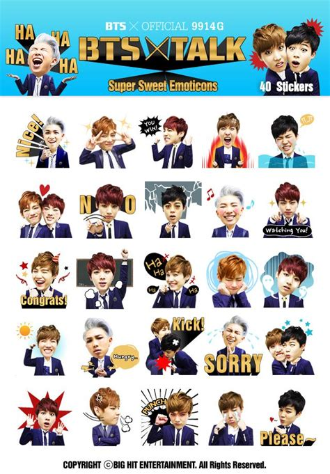 bts emoji info bts released bts super sweet emoticons for kakao