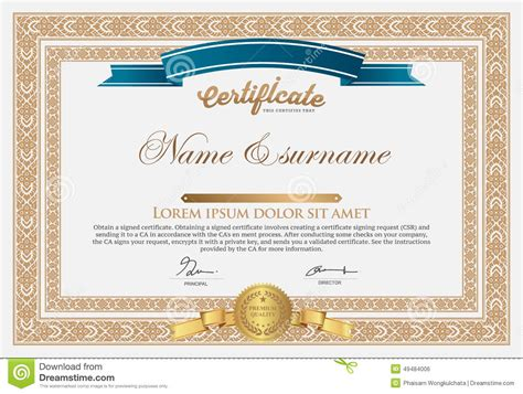 certificate design template stock vector image 49484006