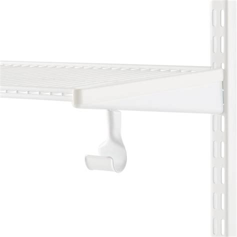 Wardrobe Pole Holders by White Elfa Closet Rod Holder The Container Store