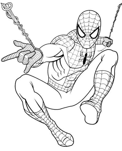 coloring pages spiderman pdf spiderman in action coloring book to print or download for