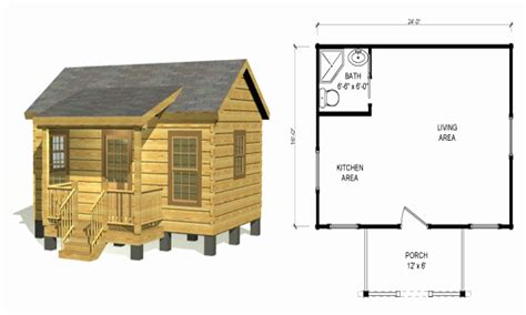 small plans log cabin floor plans small