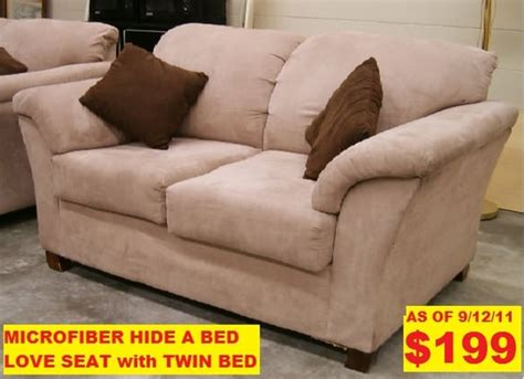 twin hide a bed sofa used twin size microfiber hide a bed sofa yelp