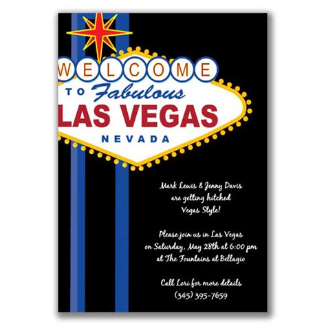 las vegas themed invitation wording vegas invitations oxsvitation