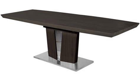 Modern Wenge Dining Table Modern Wood Veneer And Stainless Steel Base Brulee Dining Table Zuri Furniture