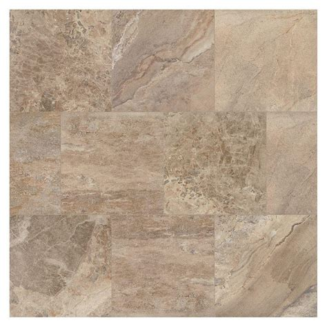marazzi developed by nature moka 24 in x 24 in glazed porcelain floor and wall tile 15 76 sq
