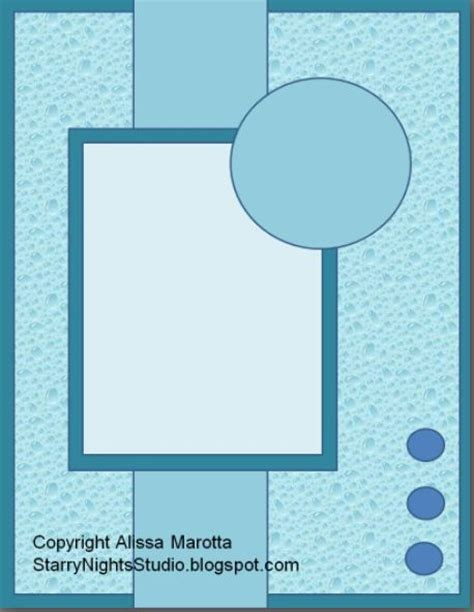 Handmade Card Layouts - free handmade greeting card layouts