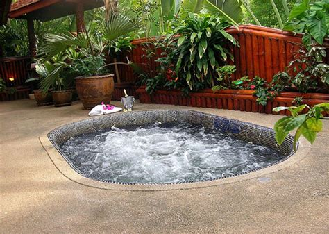 outdoor hot tub designs backyard design ideas