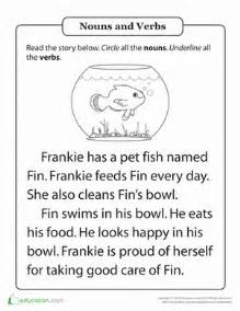 parts of speech practice hal and the fish worksheet