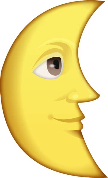 iphone emoji moon faces download last quarter moon with face emoji image in png
