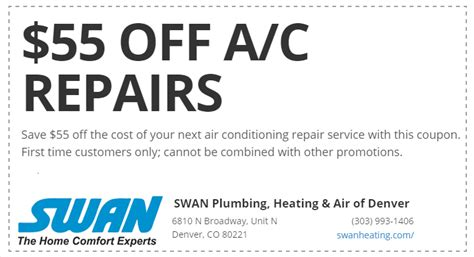 Done Plumbing Coupons by Denver Plumbing Heating Air Conditioning Service Coupons