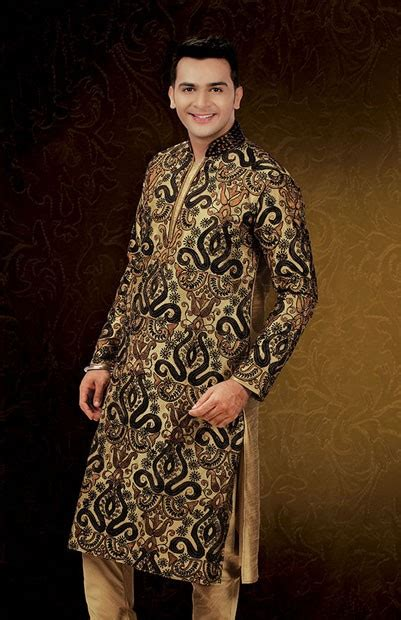rajneeti pattern kurtas khaki heavy ornamental embroidered jaal work kurta