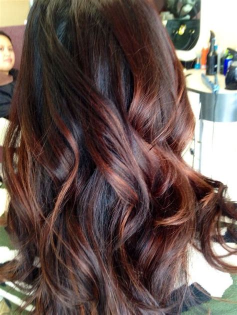 balayage light brown hair balayage brown to red www pixshark com images