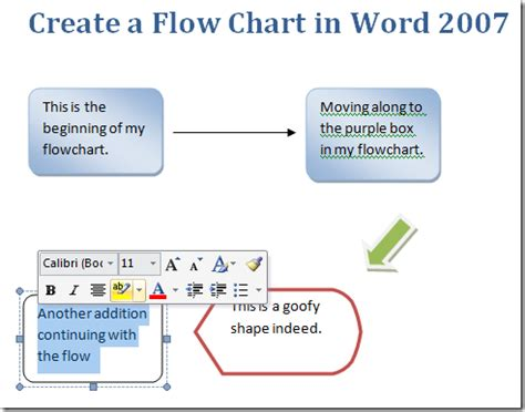 creating a flowchart in word create a flow chart in word 2007