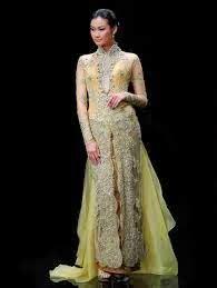 desain gaun ternama kumpulan desain model gaun kebaya panjang