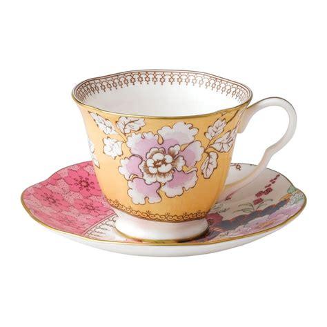 Bilder Teetasse by Wedgwood Butterfly Bloom Teaware Yellow Teacup Saucer